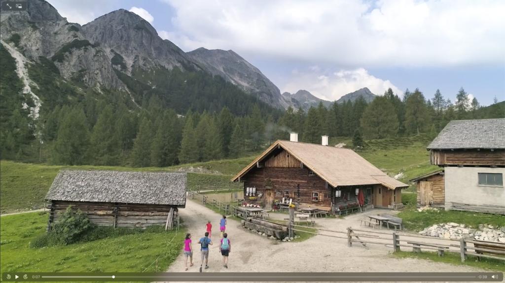 Screenshot eines Imagefilms der Urlaubsregion Altenmarkt/Zauchensee