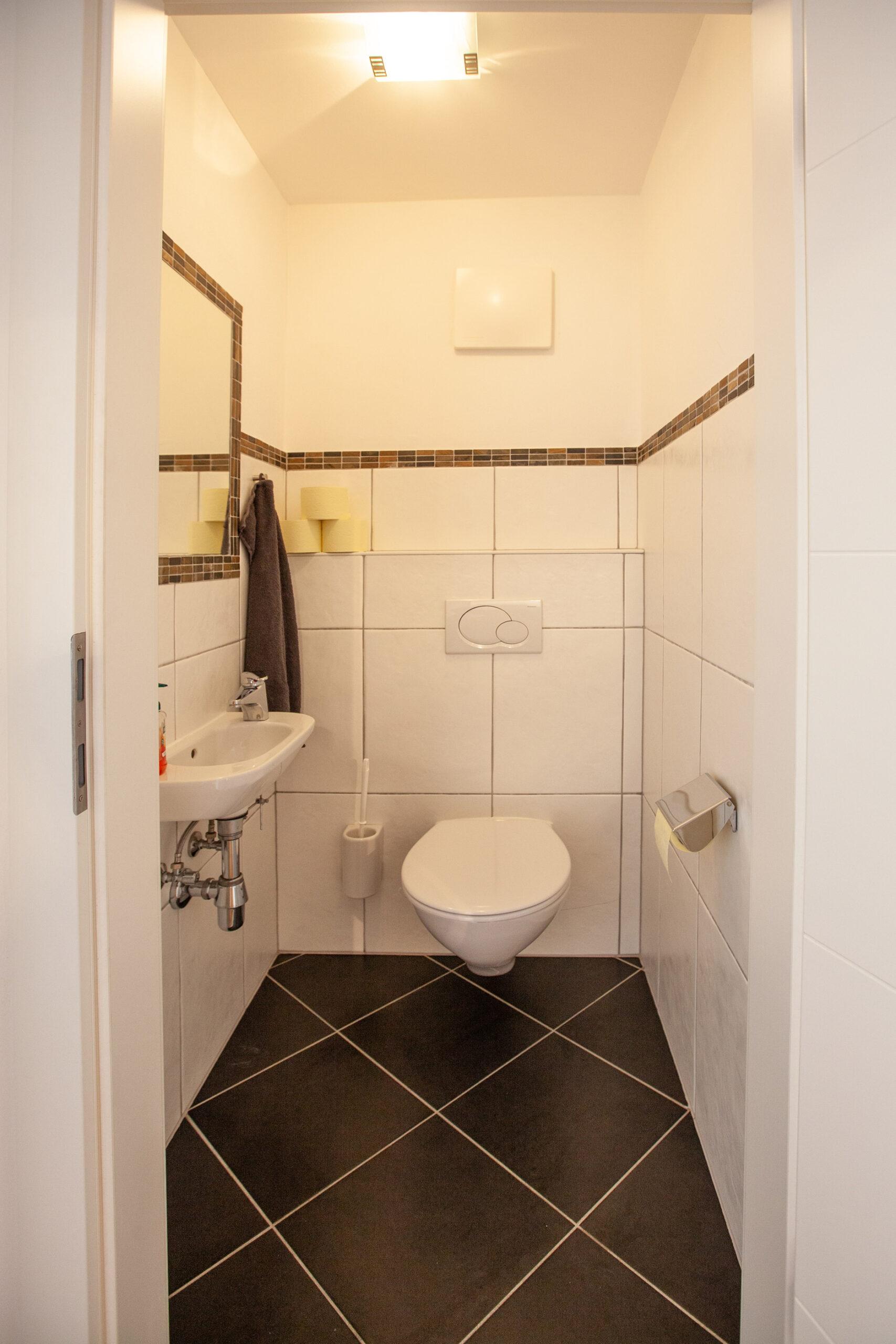 Toilette im Apartment Lackenkogel