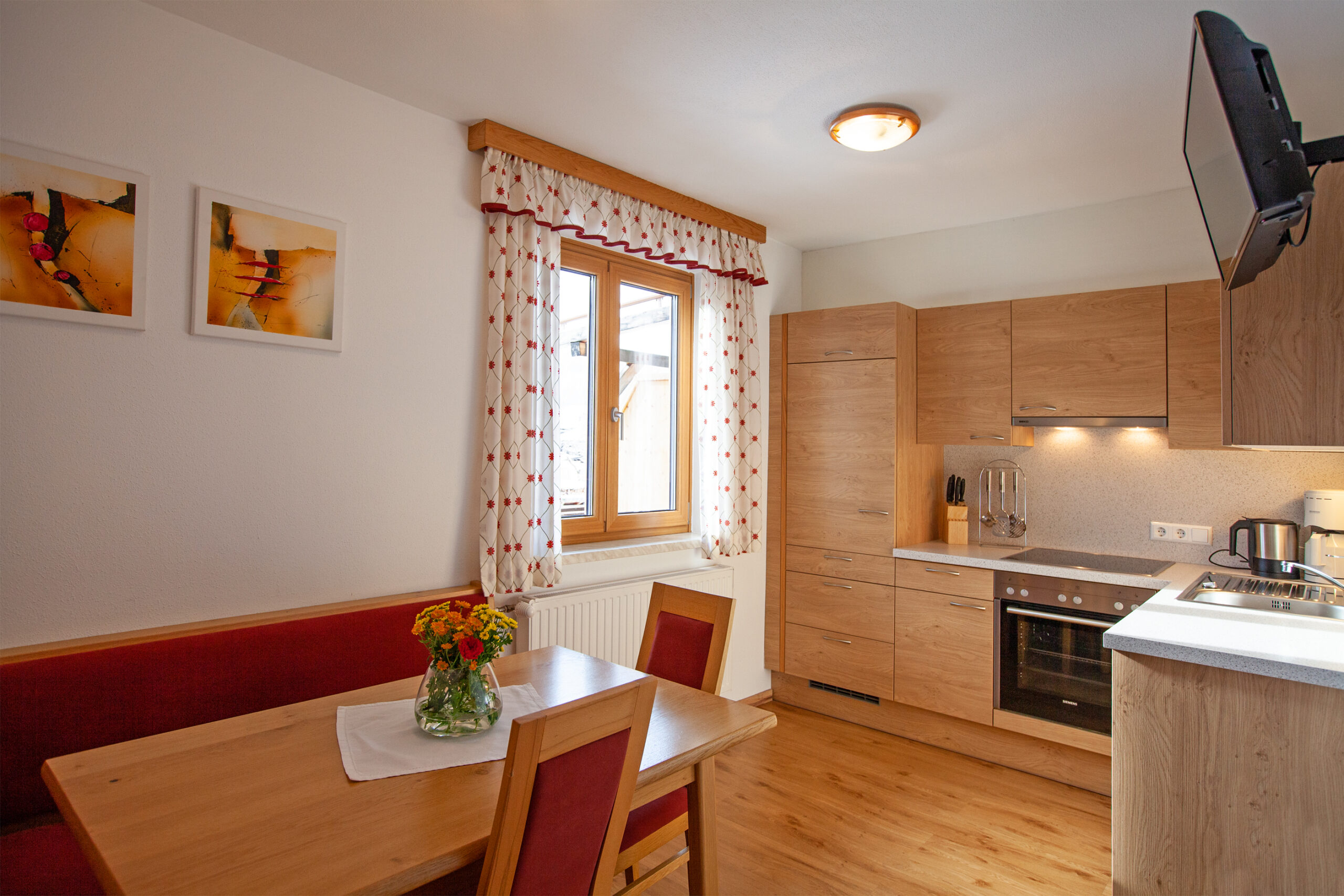 Küche im Apartment Grießenkar